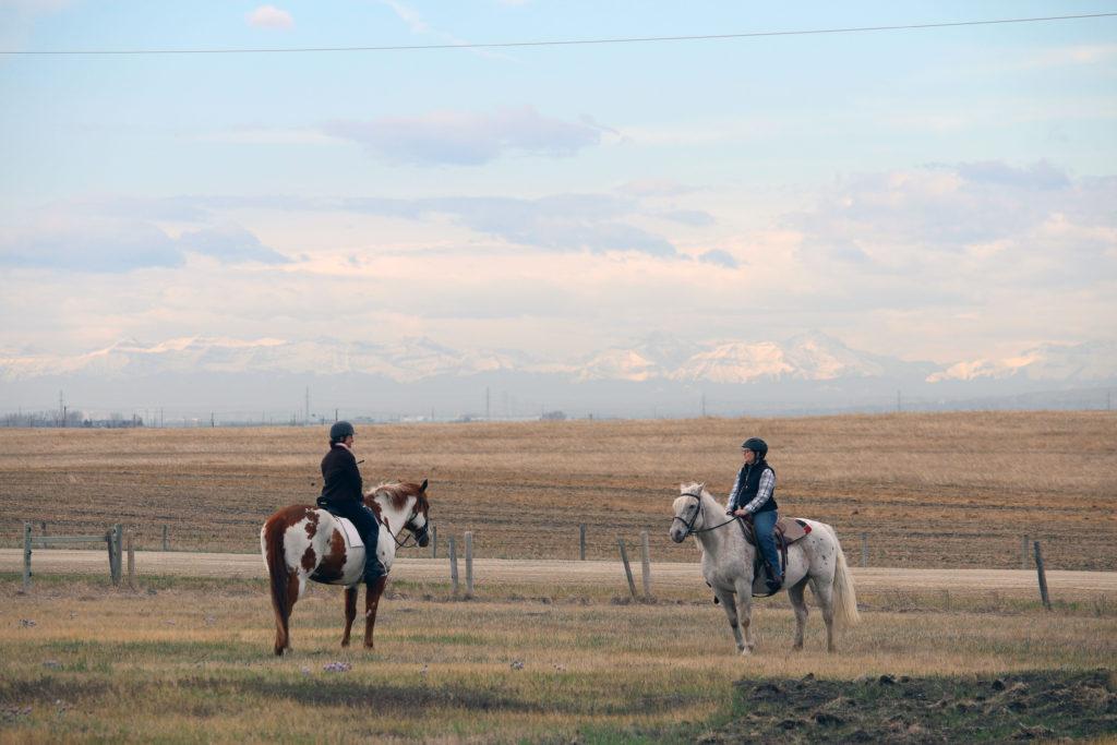 Maria Shuttleworth riding lesson